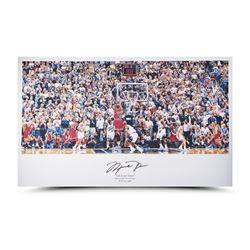 """Michael Jordan Signed Bulls """"98 Last Shot vs. Jazz"""" 22x36 Print (UDA COA)"""