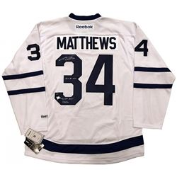 """Auston Matthews Signed Toronto Maple Leafs LE Jersey Inscribed """"2016 #1 Pick""""  """"NHL Debut 10/12/16"""""""