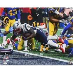 "Sony Michel Signed New England Patriots 16x20 Photo Inscribed ""SB LIII GW TD"" (JSA COA)"