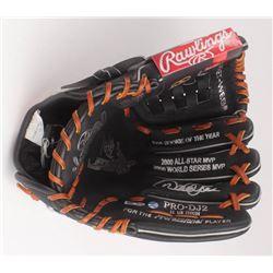 Derek Jeter Signed Career Highlight Stat Baseball Glove (Steiner COA  MLB Hologram)
