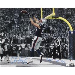 "Chris Hogan Signed New England Patriots 16x20 Photo Inscribed ""9 REC 180 YDS"" (JSA COA)"