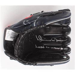 "Mariano Rivera Signed Career Highlight Stat Baseball Glove Inscribed ""Last to Wear #42"" (Steiner COA"