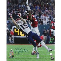 Chris Hogan Signed New England Patriots 16x20 Photo (JSA COA)