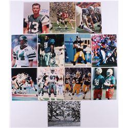"Lot of (12) Signed 8x10 Football Photos with Don Maynard, Bob Lilly, Paul Hornung, Bill ""Boom Boom"""