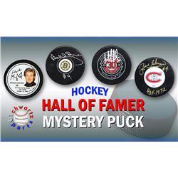 Schwartz Sports Hockey Hall of Famer Signed Logo Hockey Puck Mystery Box - Series 7 (Limited to 100)