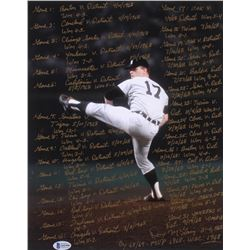Denny McLain Signed Detroit Tigers 11x14 Photo with Multiple Inscriptions (Beckett COA)