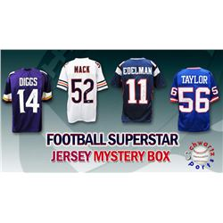 Schwartz Sports Football Superstar Signed Mystery Box Football Jersey Series 22 - (Limited to 100)