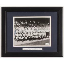 Frank Crosetti  Bill Dickey Triple Signed 1936 New York Yankees World Series Champions 13.25x16.25 C
