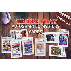 Triple Play Legends Autographed Sports Card Mystery Box - Series 2 (3 Signed Encapsulated Cards In E