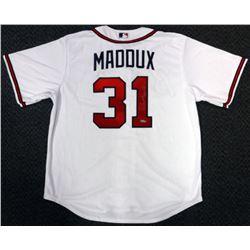"""Greg Maddux Signed Atlanta Braves Jersey Inscribed """"HOF 14"""" (TriStar Hologram)"""