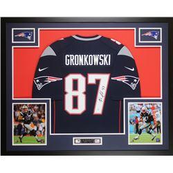 Rob Gronkowski Signed 35x43 Custom Framed Jersey (Steiner Hologram)