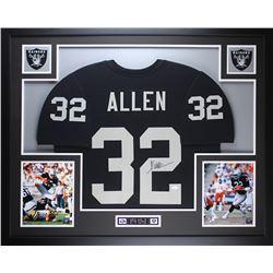 "Marcus Allen Signed 35"" x 43"" Custom Framed Jersey (JSA COA)"