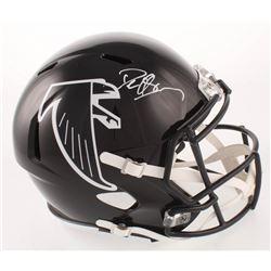 Deion Sanders Signed Atlanta Falcons Throwback Full-Size Speed Helmet (Beckett COA)