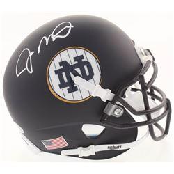 Joe Montana Signed Notre Dame Fighting Irish Matte Navy Mini Helmet (Beckett COA)