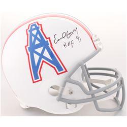 """Earl Campbell Signed Houston Oilers Full-Size Helmet Inscribed """"HOF 91"""" (JSA COA)"""