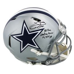 """Emmitt Smith Signed Dallas Cowboys Full-Size Authentic On-Field Speed Helmet Inscribed """"All-Time Lea"""