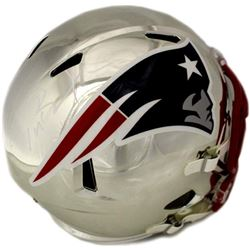 Tom Brady Signed New England Patriots Chrome Full-Size Speed Helmet (TriStar Hologram)