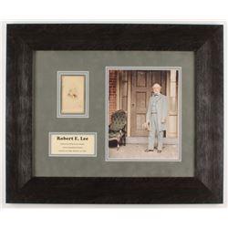 Robert E Lee Signed 19x23 Custom Framed Photo Display (Beckett LOA)