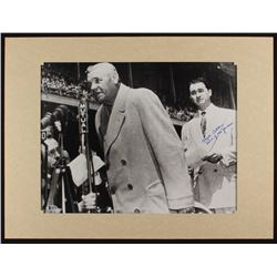 """Mel Allen Signed 18x24 Custom Matted Photo Display Inscribed """"Voice Of The Yankees"""" (Beckett Hologra"""