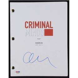 "Matthew Gray Gubler Signed ""Criminal Minds"" Episode Script (PSA COA)"