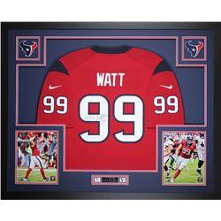 J. J. Watt Signed Houston Texans 35x43 Custom Framed Jersey (JSA COA)
