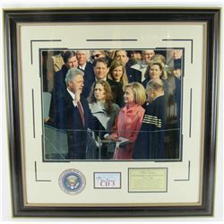 Bill Clinton Signed 30x30 Custom Framed Cut Display (JSA COA)
