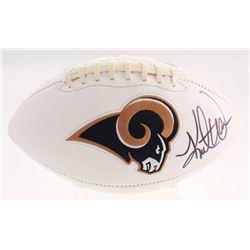 Kurt Warner Signed St. Louis Rams Logo Football (Beckett COA)