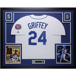"""Ken Griffey Jr. Signed 35x43 Custom Framed Jersey Inscribed """"HOF 16"""" (TriStar Hologram)"""