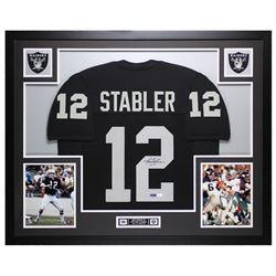 Ken Stabler Signed 35x43 Custom Framed Jersey (JSA COA)