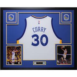 Stephen Curry Signed 35x43 Custom Framed Jersey (Steiner COA)