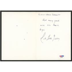 Ruth Bader Ginsburg Signed 5x7 Greeting Card with Hand-Written Note (PSA Hologram)