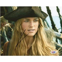 "Keira Knightley Signed ""Pirates of the Caribbean: The Curse of the Black Pearl"" 8x10 Photo (PSA COA)"