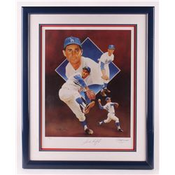 Sandy Koufax Signed LE Los Angeles Dodgers 24.5x30 Custom Framed Lithograph Display (Paluso COA)