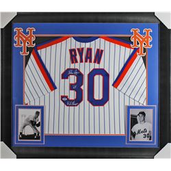 "Nolan Ryan Signed 32x37 Custom Framed Jersey Display Inscribed ""'69 W.S. Champs"" (PSA COA)"