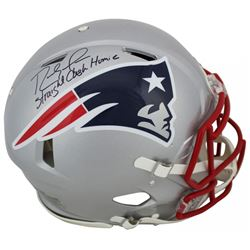 "Randy Moss Signed New England Patriots Full-Size Authentic On-Field Speed Helmet Inscribed ""Straight"