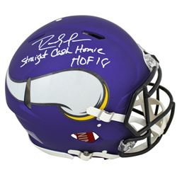 Randy Moss Signed Minnesota Vikings Full-Size Matte Purple Authentic On-Field Speed Helmet Inscribed