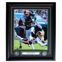 Miles Sanders Signed Philadelphia Eagles 22x27 Custom Framed Photo Display (JSA COA)