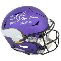 Randy Moss Signed Minnesota Vikings Full-Size Matte Purple Authentic On-Field SpeedFlex Helmet Inscr