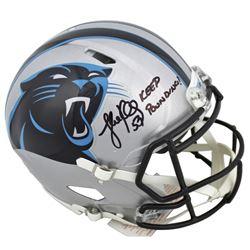 "Luke Kuechly Signed Carolina Panthers Full-Size Authentic On-Field Speed Helmet Inscribed ""Keep Poun"