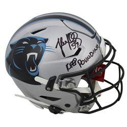 "Luke Kuechly Signed Carolina Panthers Full-Size Authentic On-Field SpeedFlex Helmet Inscribed ""Keep"