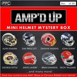 Press Pass Collectibles 2019 Amp'd Up! Mini Helmet Mystery Box – Series 1 (Limited to 50)