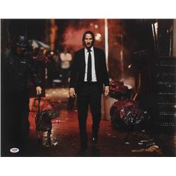 "Keanu Reeves Signed ""John Wick"" 16x20 Photo (PSA Hologram)"