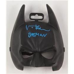 """Val Kilmer Signed Batman Mask Inscribed """"Batman"""" (Beckett COA)"""