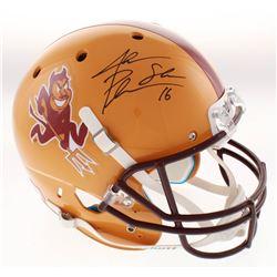 """Jake Plummer Signed Arizona State Sun Devils Full-Size Helmet Inscribed """"Snake"""" (Beckett COA)"""