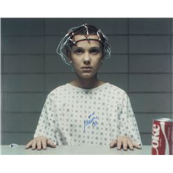 """Millie Bobby Brown Signed """"Stranger Things"""" 16x20 Photo (Beckett COA)"""
