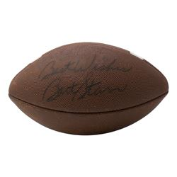 """Bart Starr Signed NCAA Football Inscribed """"Best Wishes"""" (PSA Hologram)"""