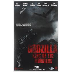"""Millie Bobby Brown Signed """"Godzilla: King of the Monsters"""" 11x17 Photo (Beckett COA)"""