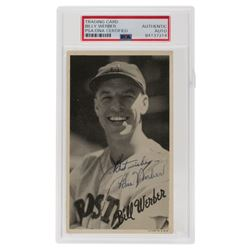 """Bill Werber Signed 1936 Goudey Wide Pen Premiums R314 #A112 Inscribed """"Best Wishes"""" (PSA Encapsulate"""