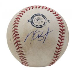 Kris Bryant Signed 2016 Game Used Chiacgo Cubs 100th Anniversary OML Baseball (PSA Hologram  MLB Hol