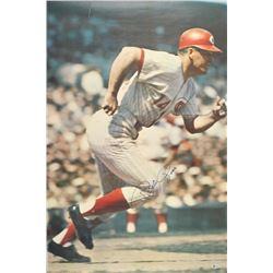 Pete Rose Signed Cincinnati Reds 24x36 1968 Sports Illustrated Poster (Beckett Hologram)